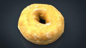 3D glass donut model