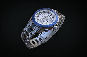 3D model quartz watch seiko astron