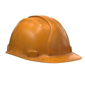 3D worker helmet pbr model