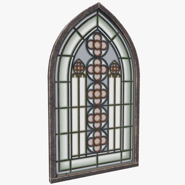 3D stained glass window