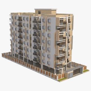 apartment building 41 3D model