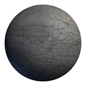 cracked asphalt scan 3D