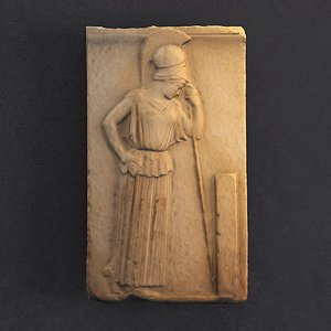 mourning athena relief acropolis 3D model