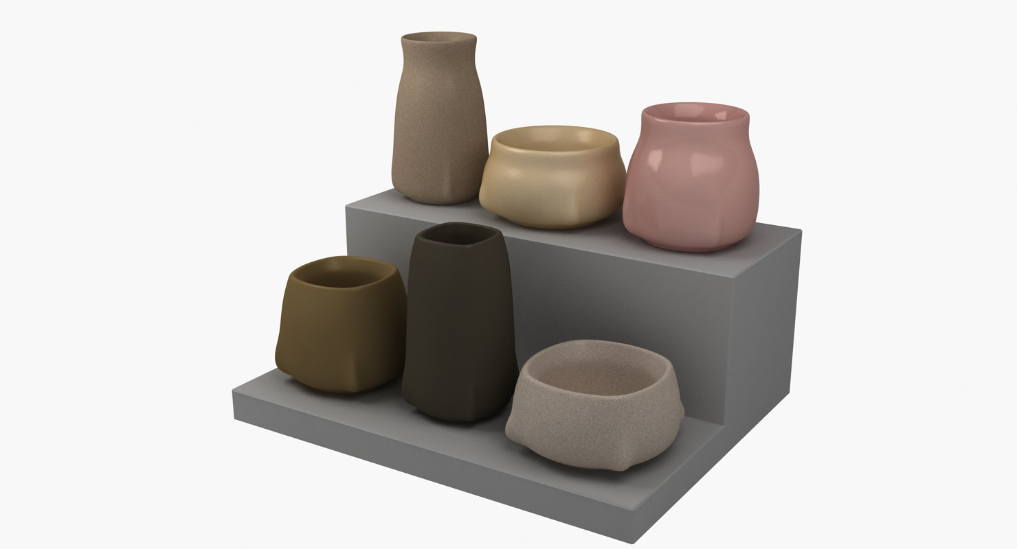 stylish pottery 3D model