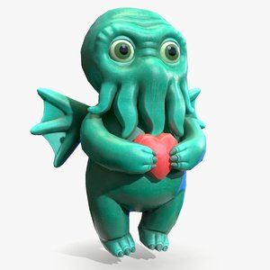 cthulhu toy heart 3D model