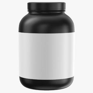 3D real bottle