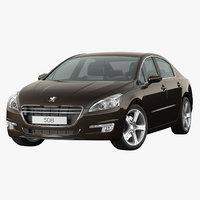 3D peugeot 508 2013 brown model