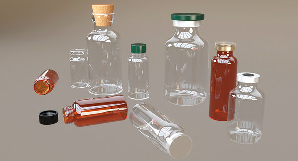 vials pharmaceutical 3D model