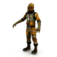 Bossk Rigged and animated