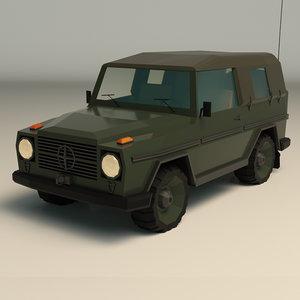 military jeep ar 3D model
