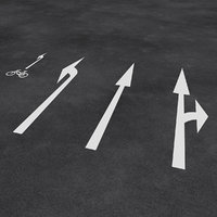 european street arrows 3D model