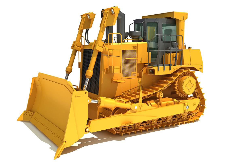 3D bulldozer dozer