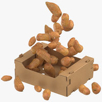 3D cardboard box 03 sweet model