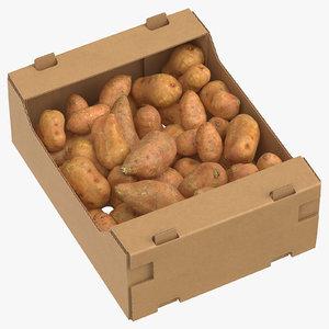 cardboard box 03 sweet 3D