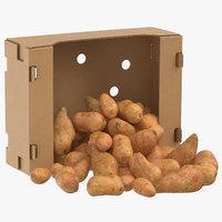 cardboard box 03 sweet 3D model