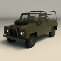 3D model military jeep ar