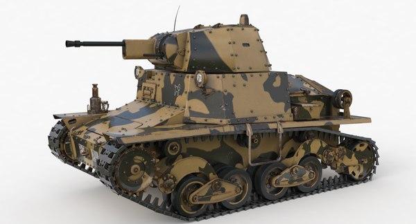 tank l6 40 camouflage model