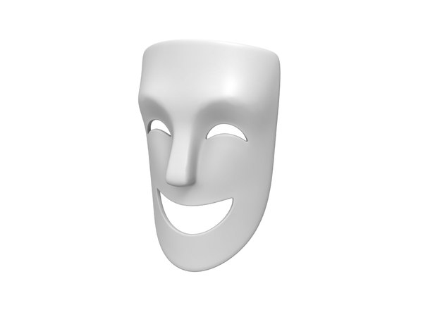 3D theater happy mask model