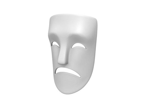 theater sad mask 3D model