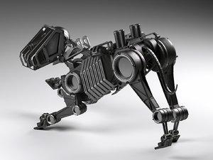 3D robot dog bot model