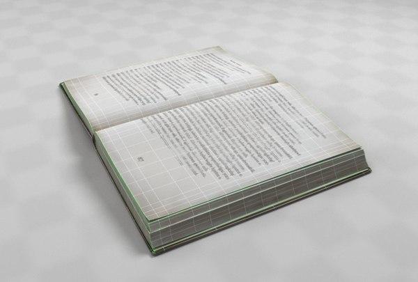 3D described open book