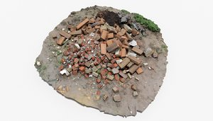 brick pile 8 rubble 3D model
