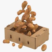 cardboard box 01 sweet 3D model