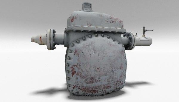 pump station industrial 3D