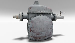 pump station industrial 3D