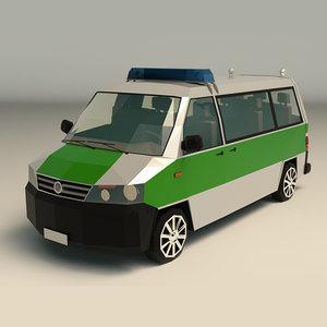 van police 3D model