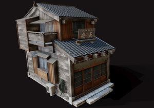 3D model japan house tsukishima