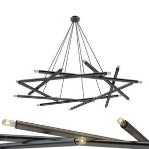 chandelier brass blueprint lighting 3D model
