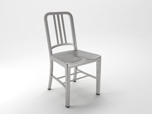 3D navy chair