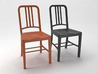 3D navy chair model