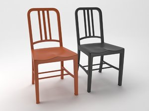 3D navy chair model