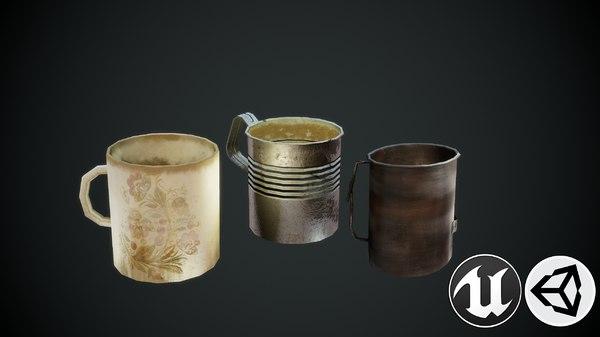 mugs pbr 3D