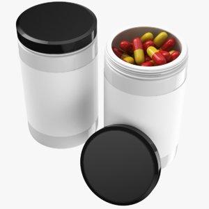 real medicine bottle pills 3D model