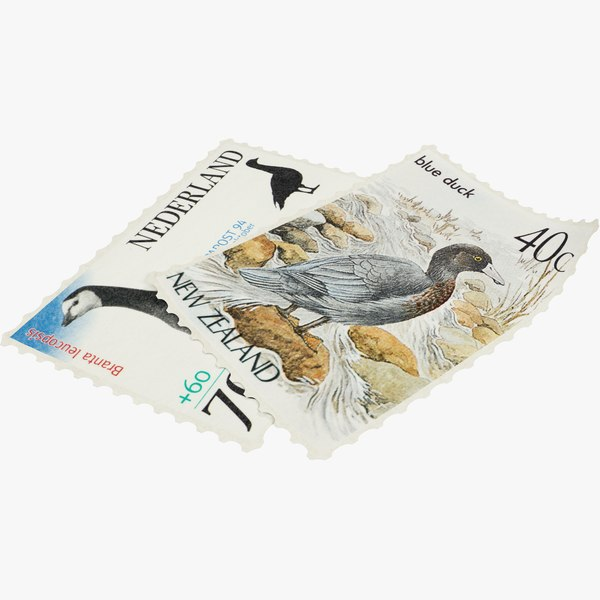 postage stamps 3D model
