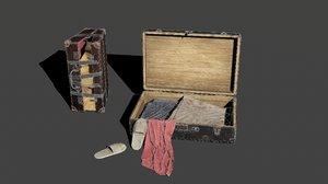 3D suitcases contains