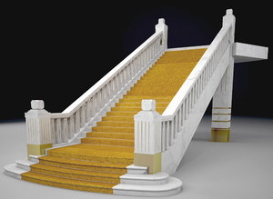 3D model stairs staircase architecture