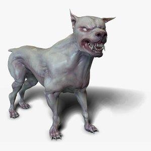 3D mutant dog character