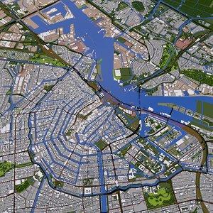 amsterdam netherlands buildings model