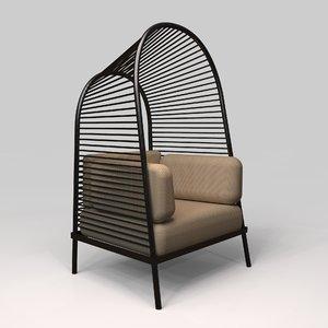 felix armchair christian vivanco 3D model
