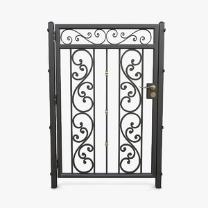 3D wrought iron gate 08 model