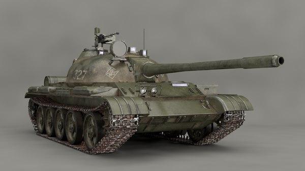 mbt t-55 3D model