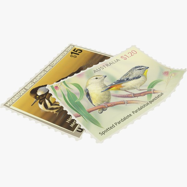3D postage stamps