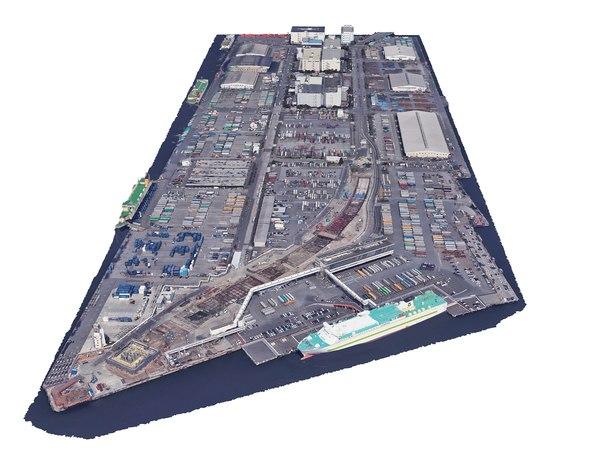 3D model port terminal