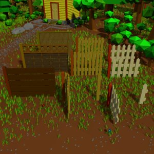 fences garden outdoor 3D model