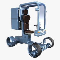 3D sci-fi scooter