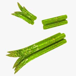 3D model asparagus games fruit